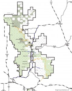 Bridger Canyon Forest Service Map