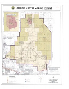 Bridger Canyon Zoning Map