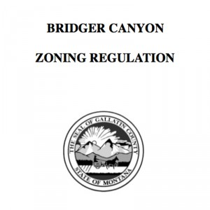 Bridger Canyon Zoning Regulations