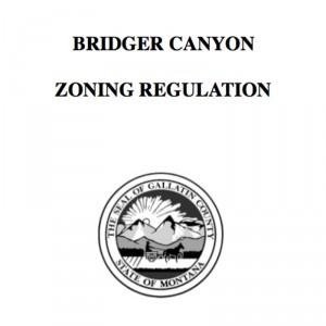 Bridger Canyon Zoning Regulations